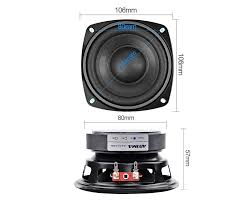 AIYIMA <b>2Pcs 4 inch</b> 50W Subwoofer Audio Speaker Portable Mini ...