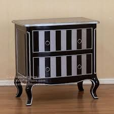stripe painted commode black silver 1 black and silver furniture