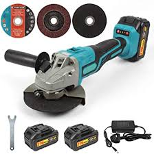 <b>21V Cordless</b> Angle Grinder, 125mm <b>Brushless</b> Angle Grinder with 3 ...