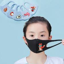 10pcs Summer <b>Ice</b> Silk Kids Cartoon Mouth Face Masks Kids ...