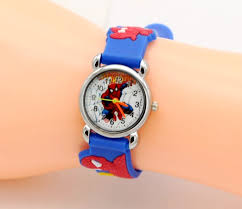 New 2017 Fashion Spider man girl's boy quartz watch <b>kids cute</b> ...