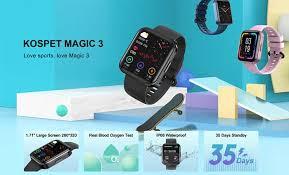 <b>Kospet Magic 3</b> Smartwatch – Sporty Wide Screen Display Wearable
