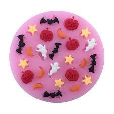 <b>Halloween</b> Pumpkin Star Moon Bat Shape <b>Silicone Cake</b> Mold ...