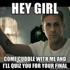 Ryan Gosling is cheering for you! ♥ Study! haha... if only ... via Relatably.com