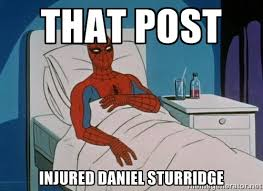 That post Injured Daniel Sturridge - spiderman hospital | Meme ... via Relatably.com