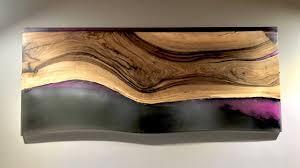 Epoxy Resin <b>wall art</b> - Pink, <b>Black</b> Walnut Wall Hanging - YouTube