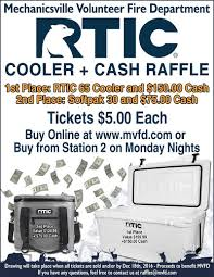 cooler and cash raffle th net com th net com articles the mechanicsville volunteer fire department is hosting a cooler and cash raffle