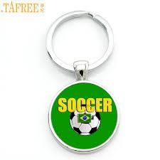 <b>TAFREE</b> Love Soccer keychain <b>high quality</b> brand handmade ...