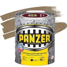<b>Краска для металла Panzer</b> молотковая золотистая - купить ...