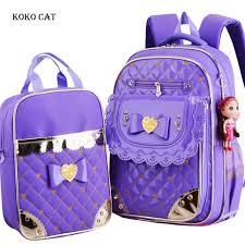 2 Pcs/Set Children School <b>Bags</b> For Teenager Girl Waterproof ...