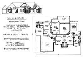 SQ feet bedroom House Plans Story  Bedroom    Bathroom  Dining Room