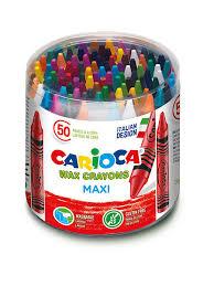 27% <b>Carioca Набор восковых мелков</b> MAXI, 50 шт.смываемые.