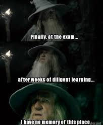 Meme Maker - Finally, at the exam... after weeks of diligent ... via Relatably.com