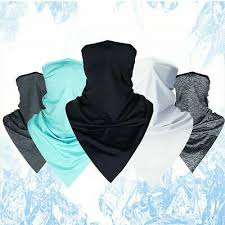 <b>1Pc Breathable Cycling</b> Face Mask Sport Triangle <b>Ice</b> Silk Summer ...