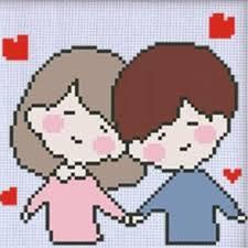 Cartoon Anime Couple Cross Stitch <b>5D DIY</b> Diamond Painting ...