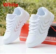 Fashion <b>womens</b> sneakers <b>breathable mesh</b> running <b>sports</b> shoes ...
