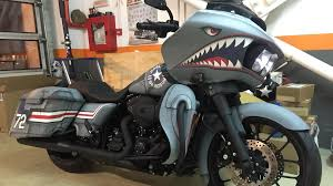 paints job shark nose harley davidson road glide