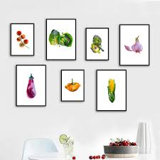 <b>Gohipang</b> Watercolor Fruit Vegetable Nordic Posters And Print Wall ...