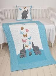 Twin <b>Baby</b> Quilts, Pink Blue Twin Crib Bedding, Elephant Kids ...