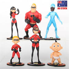 The <b>Incredibles</b> Action Figure Doll Toy Gift Violet Dash Jack Cake ...