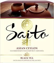 <b>Чай</b> в пакетиках <b>Saito Asian</b> Ceylon, <b>черный</b>, 100 шт — купить в ...