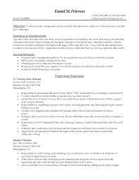 sales manager resume objective sample  seangarrette coothers samples objective and summary of qualifications catering sales manager resume    s manager resume