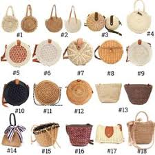 2019 Women Vintage Beach Straw Bag Ladies Handmade ... - Vova