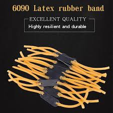 3/10pc Flat Elastic Rubber <b>Band</b> Outdoor Slingshot <b>Replacement</b> ...