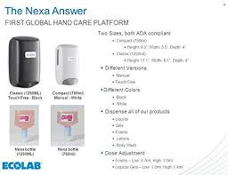 Ecolab Nexa <b>Automatic</b> Hand Hygiene Dispenser for Soap, Lotion ...