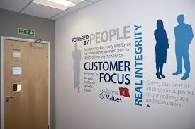 wall office. corporate culture wall graphics office
