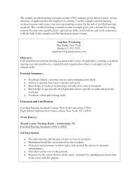 Certified Nursing Assistant Resume Resume For Your Job Application