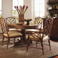plantation oval pedestal dining room tommy bahama home island estate cayman pedestal casual dining table in
