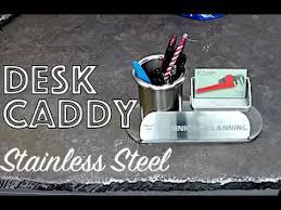 <b>Stainless</b> Steel Desk Organizer Caddy - <b>Business Card Holder</b> Desk ...