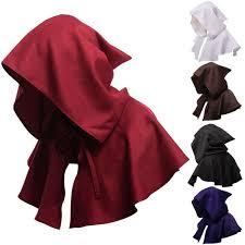2019 <b>Adults Hooded Cloak Gothic</b> Devil Cape Costume Medieval ...