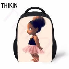<b>THIKIN African Black</b> Art Ballet <b>Girls</b> Mini School Bags Baby Toy ...