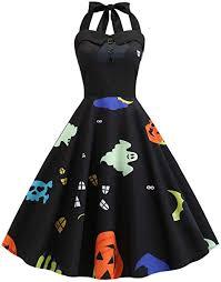 KENANCY Women Round Neck <b>Retro</b> Rockabilly <b>Vestido Vintage</b> ...