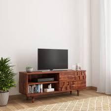 TimberTaste SHALU <b>Sheesham Solid Wood TV</b> Entertainment Unit ...