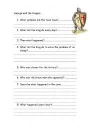 english teaching worksheets other writing worksheets english worksheets george and the dragon