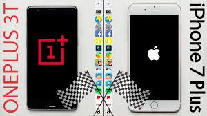 OnePlus 3T vs. iPhone 7 Plus Speed Test - YouTube