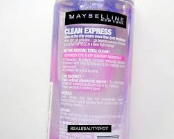 maybelline clean express total makeup remover review