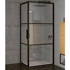<b>Душевой уголок Riho Grid</b> 100x100 профиль черный стекло ...