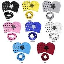 <b>3pcs</b> Autumn Winter <b>Baby</b> Hats Scarf <b>Set</b> Cotton <b>Star</b> Print Kid ...