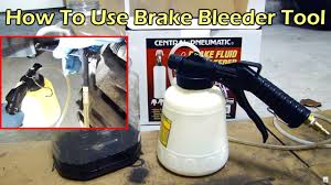 How To Use HF <b>Pneumatic Brake</b> Fluid Bleeder - One Person Job ...