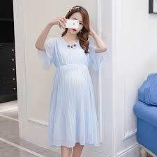 1702# <b>2019</b> Summer Korean Fashion Maternity Party Dresses ...