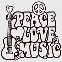 peace love music wall art stickers home