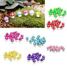 10pcs Mini <b>Mushroom</b> Garden Ornament Resin Crafts Decorations ...