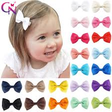 "<b>20 Pcs</b>/<b>lot</b> 3"" Plain Ribbon <b>Bows</b> With Hair Clips For <b>Kids</b> Girls <b>Mini</b> ..."