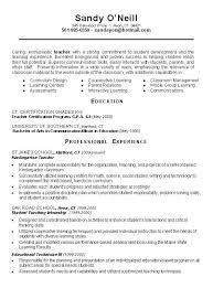 Sample Resume  Sle Teacher Resume Exles Teaching Assistant