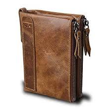 Small <b>Vintage Crazy Horse Leather</b> RFID Blocking Wallet Short ...