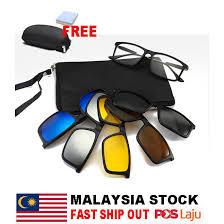PROMO 5 in 1 <b>Polarized Sunglasses Magnetic</b> Clip <b>TR</b> Frame ...